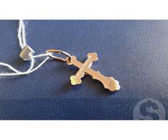 Крестик - подвеска золотая! Крест! Кулон! Новая! (П-265)