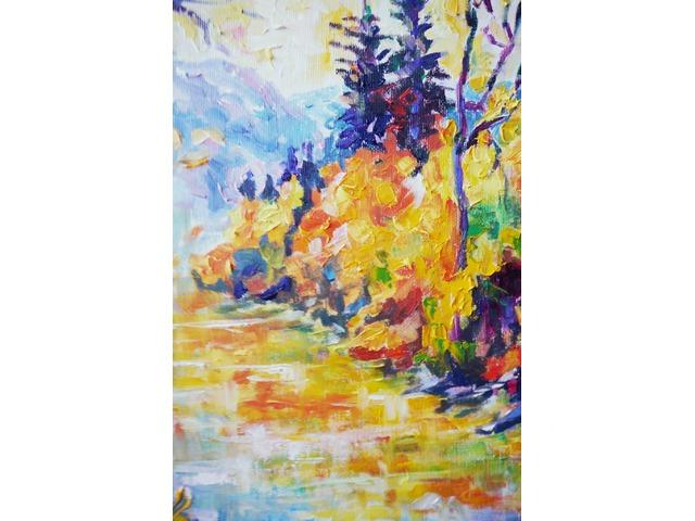 Осенняя река в горах. Картина интерьерная - 2/4
