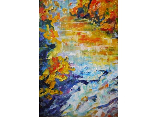 Осенняя река в горах. Картина интерьерная - 3/4