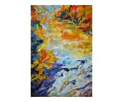 Осенняя река в горах. Картина интерьерная - Фото 3/4