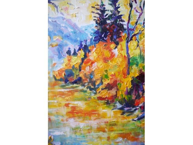 Осенняя река в горах. Картина интерьерная - 4/4