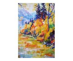 Осенняя река в горах. Картина интерьерная - Фото 4/4