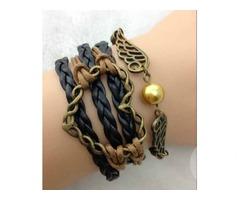 Многослойный браслет Heart Braid Bronze