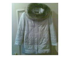 Кожаная женская утепленная куртка размер 44-46