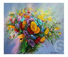 Натюрморт «Маки и полевые цветы»