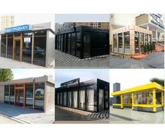 Виготовлення павільйонів торгових,мобільних офісів, кіосків, МАФ під ключ в Києві.