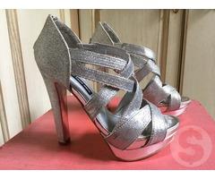 Серебряные босоножки Tally Weill туфли
