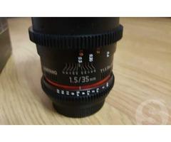 Объектив Samyang Samyang 35mm t1.5 ed as umc vdslr canon ef