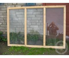 Продам оконные/ дверные рамы из дерева